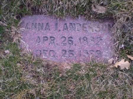 ANDERSON, ANNA I. - Douglas County, Nebraska | ANNA I. ANDERSON - Nebraska Gravestone Photos