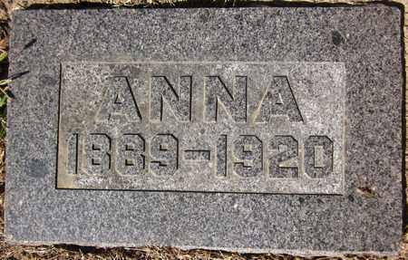 ANDERSON, ANNA - Douglas County, Nebraska   ANNA ANDERSON - Nebraska Gravestone Photos