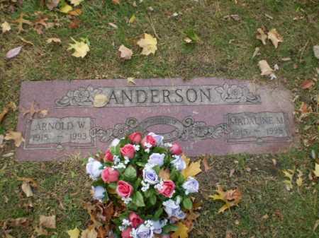 ANDERSON, ARNOLD W - Douglas County, Nebraska | ARNOLD W ANDERSON - Nebraska Gravestone Photos