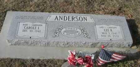 ANDERSON, CAROLE I. - Douglas County, Nebraska | CAROLE I. ANDERSON - Nebraska Gravestone Photos