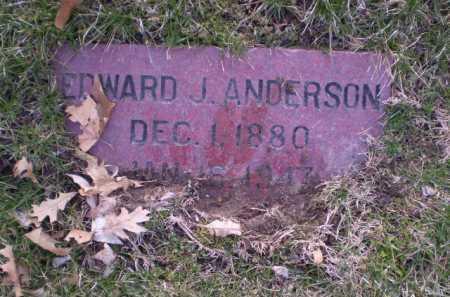 ANDERSON, EDWARD J. - Douglas County, Nebraska   EDWARD J. ANDERSON - Nebraska Gravestone Photos