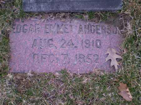 ANDERSON, EDGAR EMMET - Douglas County, Nebraska   EDGAR EMMET ANDERSON - Nebraska Gravestone Photos