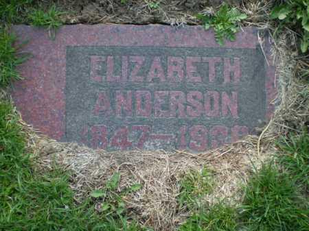 ANDERSON, ELIZABETH - Douglas County, Nebraska   ELIZABETH ANDERSON - Nebraska Gravestone Photos