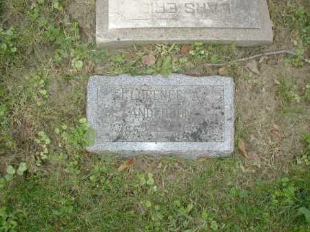 ANDERSON, FLORENCE A - Douglas County, Nebraska   FLORENCE A ANDERSON - Nebraska Gravestone Photos