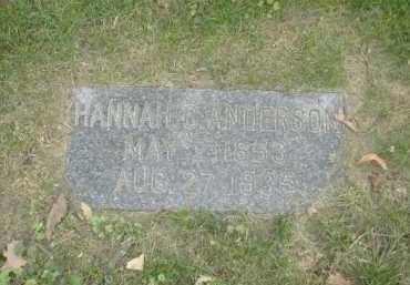 ANDERSON, HANNAH G. - Douglas County, Nebraska | HANNAH G. ANDERSON - Nebraska Gravestone Photos