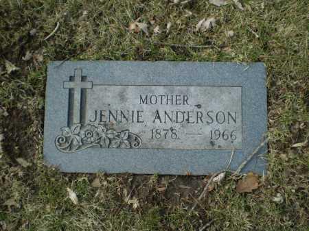 ANDERSON, JENNIE - Douglas County, Nebraska | JENNIE ANDERSON - Nebraska Gravestone Photos