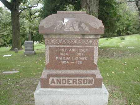 ANDERSON, JOHN P - Douglas County, Nebraska | JOHN P ANDERSON - Nebraska Gravestone Photos