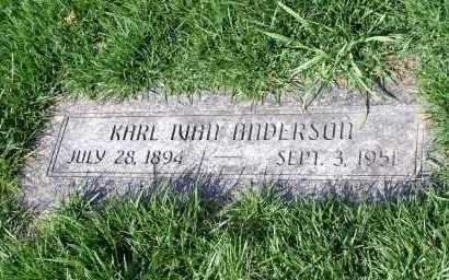ANDERSON, KARL IVAN - Douglas County, Nebraska   KARL IVAN ANDERSON - Nebraska Gravestone Photos