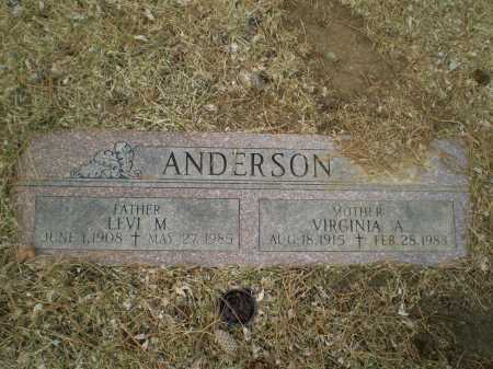 ANDERSON, LEVI M - Douglas County, Nebraska | LEVI M ANDERSON - Nebraska Gravestone Photos