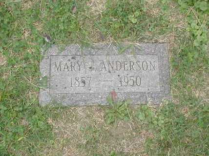 ANDERSON, MARY J. - Douglas County, Nebraska | MARY J. ANDERSON - Nebraska Gravestone Photos