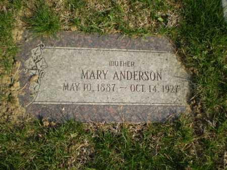 ANDERSON, MARY - Douglas County, Nebraska   MARY ANDERSON - Nebraska Gravestone Photos