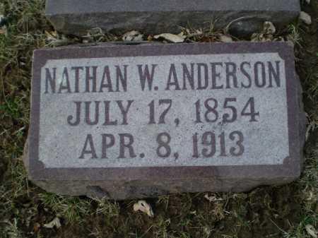 ANDERSON, NATHAN W - Douglas County, Nebraska | NATHAN W ANDERSON - Nebraska Gravestone Photos