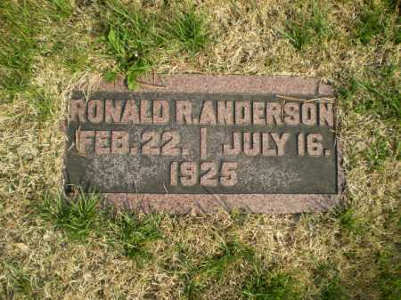 ANDERSON, RONALD ROBERT - Douglas County, Nebraska   RONALD ROBERT ANDERSON - Nebraska Gravestone Photos