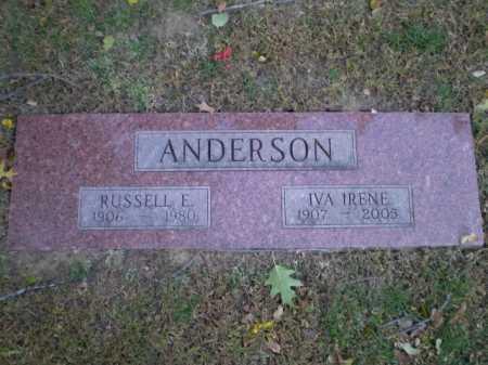 ANDERSON, RUSSELL E - Douglas County, Nebraska | RUSSELL E ANDERSON - Nebraska Gravestone Photos
