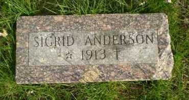 ANDERSON, SIGRID - Douglas County, Nebraska | SIGRID ANDERSON - Nebraska Gravestone Photos