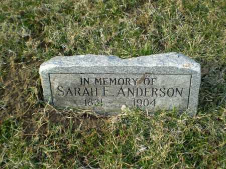 ANDERSON, SARAH E - Douglas County, Nebraska | SARAH E ANDERSON - Nebraska Gravestone Photos