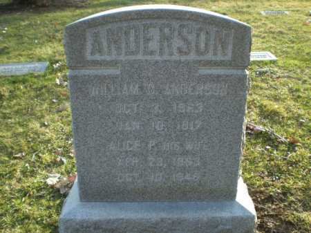 ANDERSON, WILLIAM C. - Douglas County, Nebraska | WILLIAM C. ANDERSON - Nebraska Gravestone Photos