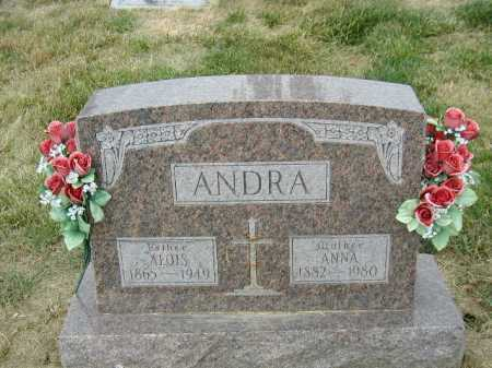 ANDRA, ALOIS - Douglas County, Nebraska   ALOIS ANDRA - Nebraska Gravestone Photos