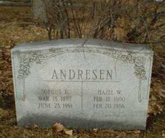 ANDRESEN, HAZEL W - Douglas County, Nebraska   HAZEL W ANDRESEN - Nebraska Gravestone Photos