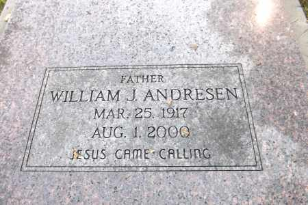 ANDRESEN, WILLIAM J. (CLOSE UP) - Douglas County, Nebraska | WILLIAM J. (CLOSE UP) ANDRESEN - Nebraska Gravestone Photos