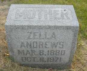 ANDREWS, ZELLA - Douglas County, Nebraska | ZELLA ANDREWS - Nebraska Gravestone Photos