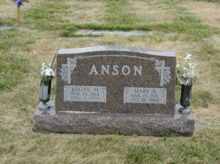 ANSON, MARY A - Douglas County, Nebraska | MARY A ANSON - Nebraska Gravestone Photos