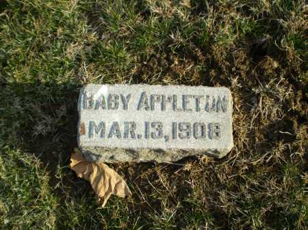 APPLETON, BABY - Douglas County, Nebraska | BABY APPLETON - Nebraska Gravestone Photos