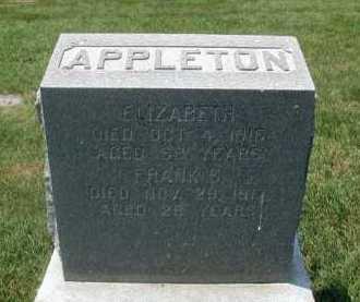 APPLETON, FRANK S - Douglas County, Nebraska | FRANK S APPLETON - Nebraska Gravestone Photos