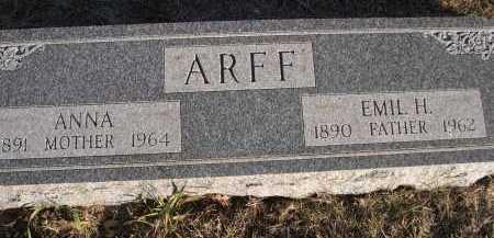 ARFF, ANNA - Douglas County, Nebraska | ANNA ARFF - Nebraska Gravestone Photos