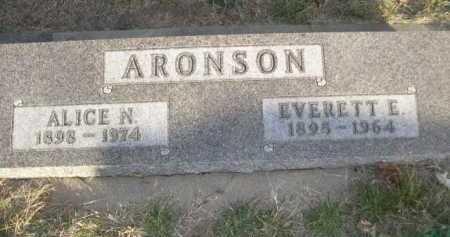 ARONSON, ALICE N. - Douglas County, Nebraska | ALICE N. ARONSON - Nebraska Gravestone Photos