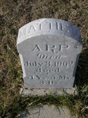 ARP, MATTIE - Douglas County, Nebraska   MATTIE ARP - Nebraska Gravestone Photos