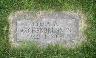 ASCHENBRENNER, LYDIA A - Douglas County, Nebraska   LYDIA A ASCHENBRENNER - Nebraska Gravestone Photos