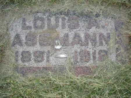 ASSMANN, LOUIS A - Douglas County, Nebraska | LOUIS A ASSMANN - Nebraska Gravestone Photos