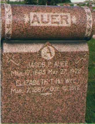 AUER, JACOB P. - Douglas County, Nebraska | JACOB P. AUER - Nebraska Gravestone Photos