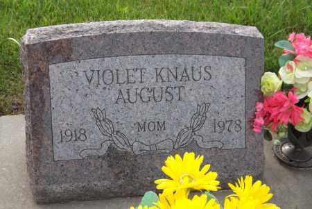 AUGUST, VIOLET - Douglas County, Nebraska | VIOLET AUGUST - Nebraska Gravestone Photos