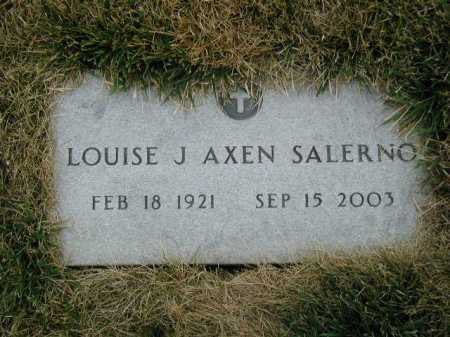 AXEN SALERNO, LOUISE J - Douglas County, Nebraska | LOUISE J AXEN SALERNO - Nebraska Gravestone Photos