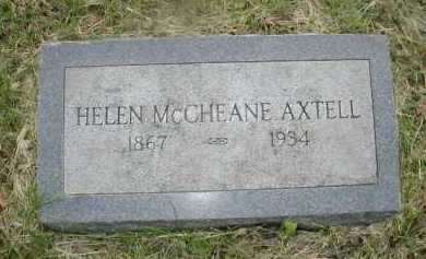 MC CHEANE AXTELL, HELEN - Douglas County, Nebraska | HELEN MC CHEANE AXTELL - Nebraska Gravestone Photos