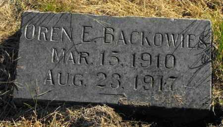 BACKOWIES, OREN - Douglas County, Nebraska   OREN BACKOWIES - Nebraska Gravestone Photos