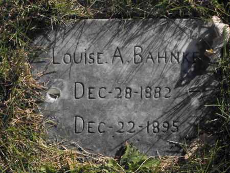 BAHNKE, LOUISE - Douglas County, Nebraska | LOUISE BAHNKE - Nebraska Gravestone Photos