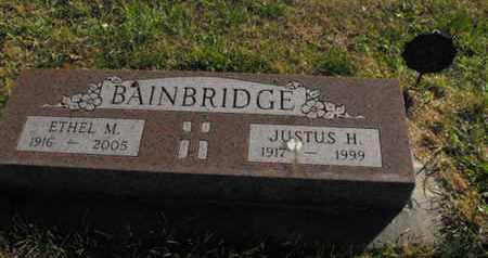 BAINBRIDGE, JUSTUS - Douglas County, Nebraska | JUSTUS BAINBRIDGE - Nebraska Gravestone Photos