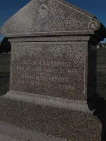 BAINBRIDGE, EMMA - Douglas County, Nebraska | EMMA BAINBRIDGE - Nebraska Gravestone Photos