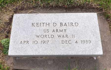 BAIRD, KEITH D. (MILITARY MARKER) - Douglas County, Nebraska   KEITH D. (MILITARY MARKER) BAIRD - Nebraska Gravestone Photos