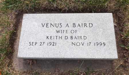 BAIRD, VENUS A. - Douglas County, Nebraska | VENUS A. BAIRD - Nebraska Gravestone Photos