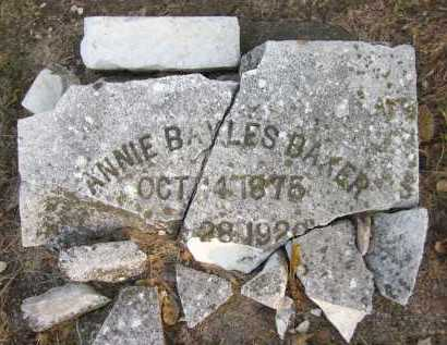 BAYLES BAKER, ANNIE - Douglas County, Nebraska | ANNIE BAYLES BAKER - Nebraska Gravestone Photos