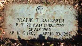 BALDWIN, FRANK T. - Douglas County, Nebraska   FRANK T. BALDWIN - Nebraska Gravestone Photos