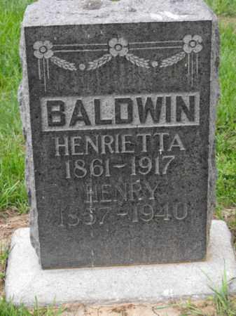 BALDWIN, HENRIETTA - Douglas County, Nebraska | HENRIETTA BALDWIN - Nebraska Gravestone Photos