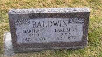 BALDWIN, MARTHA E. - Douglas County, Nebraska | MARTHA E. BALDWIN - Nebraska Gravestone Photos