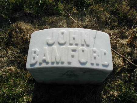BAMFORD, JOHN - Douglas County, Nebraska | JOHN BAMFORD - Nebraska Gravestone Photos