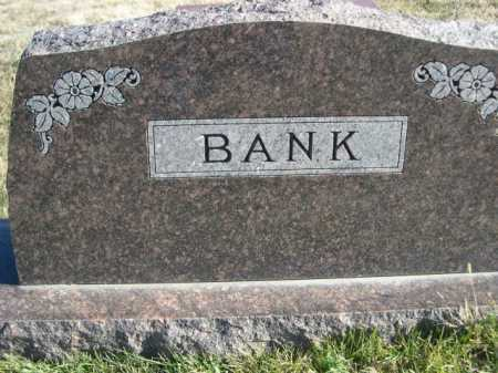 BANK, FAMILY - Douglas County, Nebraska | FAMILY BANK - Nebraska Gravestone Photos