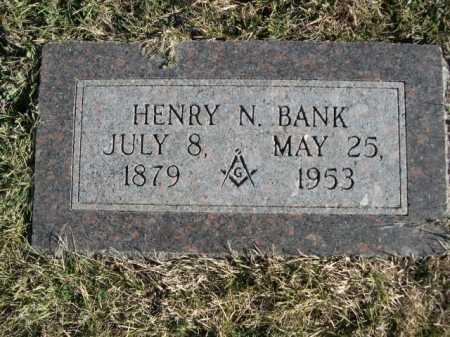 BANK, HENRY N. - Douglas County, Nebraska | HENRY N. BANK - Nebraska Gravestone Photos